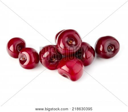 Sweet ripe cherry isolated on white background cutout