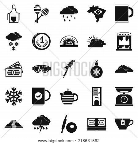 Coffee making icons set. Simple set of 25 coffee making vector icons for web isolated on white background