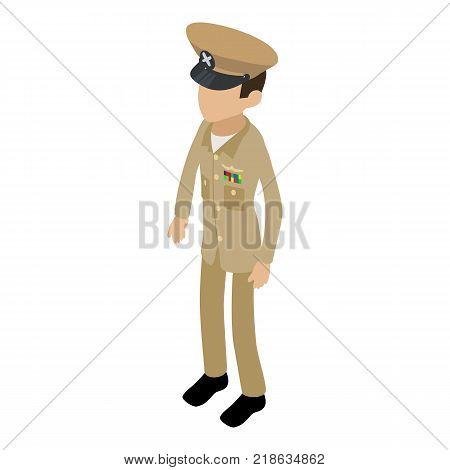 Soldier profession icon. Isometric illustration of soldier profession vector icon for web