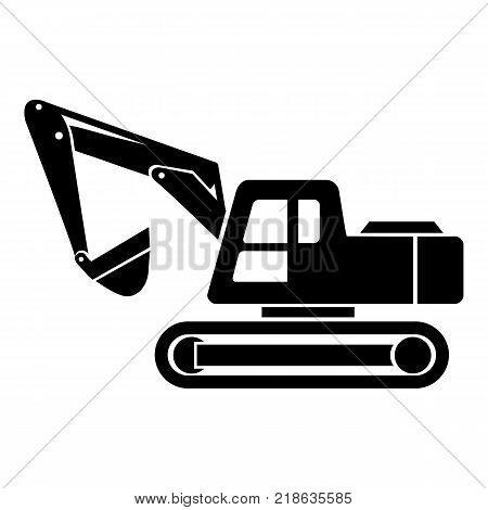 Digging machine icon. Simple illustration of digging machine vector icon for web