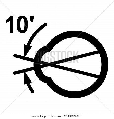 Vision angle icon. Simple illustration of vision angle vector icon for web