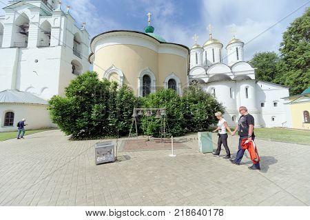 Yaroslavl, Russia. - June 3.2016 Yaroslavl chime in the Transfiguration Monastery