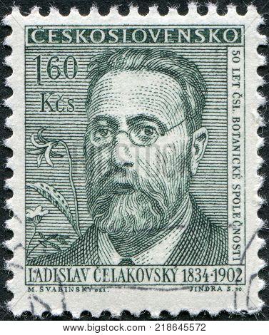 CZECHOSLOVAKIA - CIRCA 1962: A stamp printed in the Czechoslovakia, shows Ladislav Josef Celakovsky, circa 1962