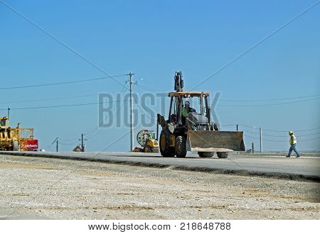 FORT WORTH, TEXAS - OCTOBER 07: Highway Construction on Texas State Highway 26 Texas 2013
