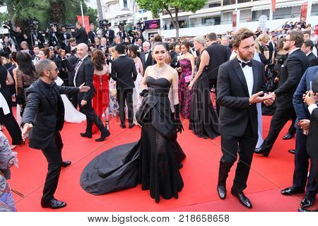 CANNES, FRANCE - MAY 18: Araya Hargate attends the 'Loveless (Nelyubov)' screening during the 70th annual Cannes Film Festival at Palais des Festivals on May 18, 2017 in Cannes, France.