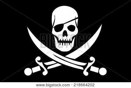 vector skull with crossed bones illustration art