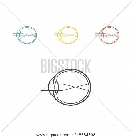Myopia line icon. Eyeball sign. Vector illustration for websites