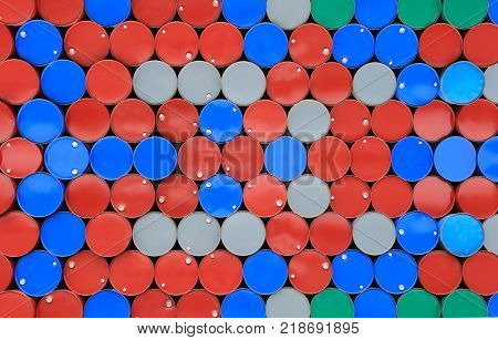 Colorful of metal surface Tank lid or Tank cap for the design concept in your work.