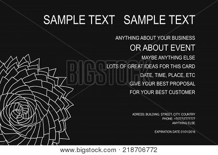 Background for event poster gift certificate invitation card advert frame and for lots of your great ideas. Vector illustration.