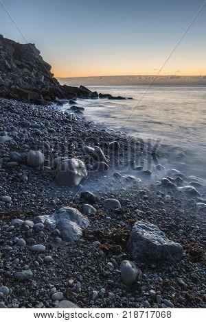 Beautiful Sunrise Landscape Image Of Church Ope Cove In Portland Dorest England