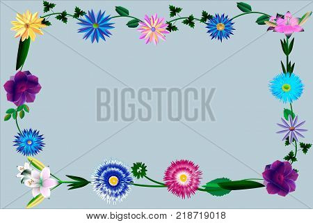 A colorful postcard from an interweaving of different colors, can be used as a background or a frame to create a decor and an exclusive design