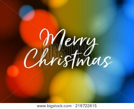 Merry Christmas Greeting Card. Vector EPS 10. No mesh. For your print and web messages : greeting cards, banners, t-shirts.