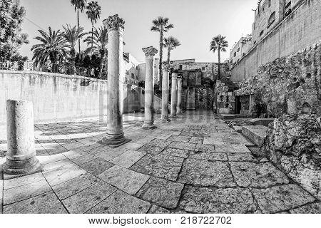 Cardo Maximus Roman Pillars.