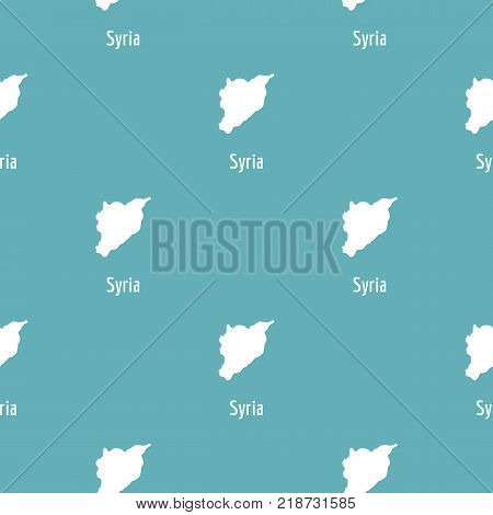 Syria map in black. Simple illustration of Syria map vector isolated on white background