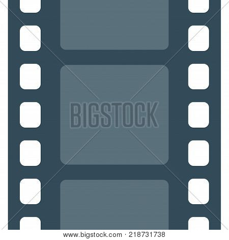 Movie and photography 35 mm film strip template. Film with frames movie seamless pattern. Vector illustration