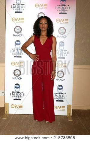 LOS ANGELES - DEC 16:  Nischelle Turner at the 49th NAACP Image Awards Nominees' Luncheon at Beverly Hilton Hotel on December 16, 2017 in Beverly Hills, CA