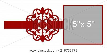 Laser cut flower vector photo free trial bigstock laser cut flower template for envelope vector ready for printing postcards packets wedding stopboris Image collections