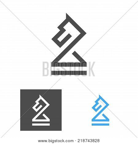 Chess Knight Logo Template. Chess Club Logotype Set. Horse. Coach Emblem. Vector