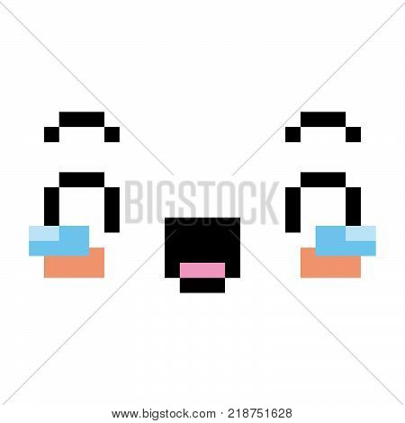 Vector Face With Tears Of Joy Isolated On White Background