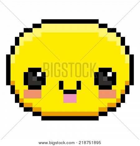 Vector Winking Face Isolated On White Background