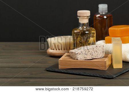 Toiletry Set. Handmade Soap. Essence, Towel. Body Care Kit