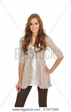 Young Woman Fashion Shows