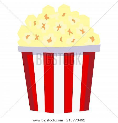 Vector Cartoon PopCorn Isolated On White Background