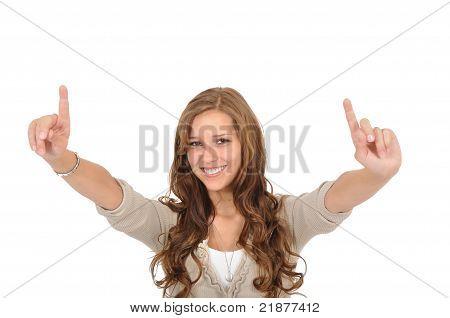 Student Raises Finger