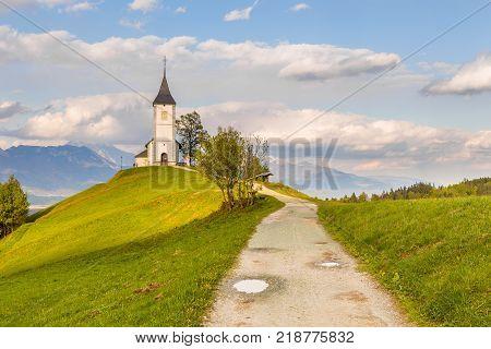 Saints Primus And Felician Church In Jamnik.