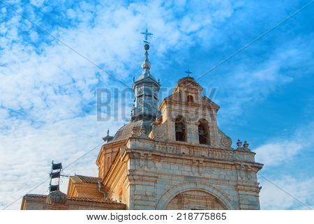 A View To An Old Decorated Bell Tower Of An Ancient Catolic Church Ermita Del Santisimo Cristo De La