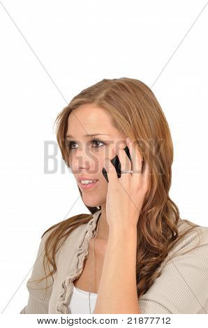 Young Woman On The Phone With Girlfriend