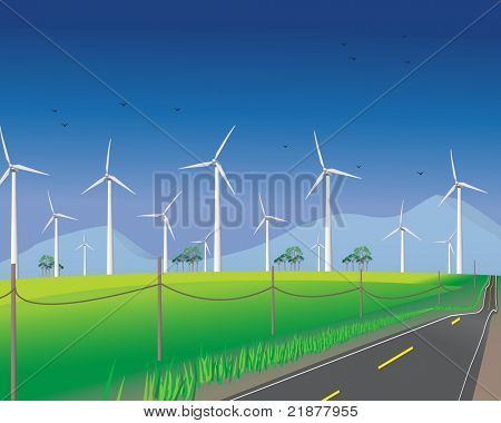 Wind turbines for green environment