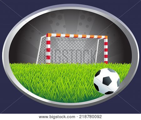 Soccer goal with different design of the posts and mesh
