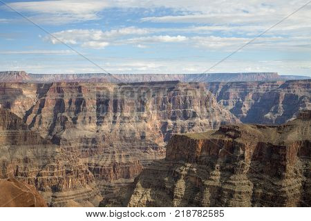The stunning canyon walls of the West Rim in Arizona