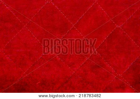 red bright fabric of a piece of cloth