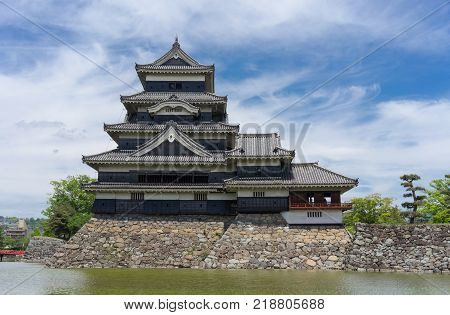 Matsumoto Castle Matsumoto Japan. Matsumoto Castle is one of the most complete and beautiful among Japan's original castles. It is a