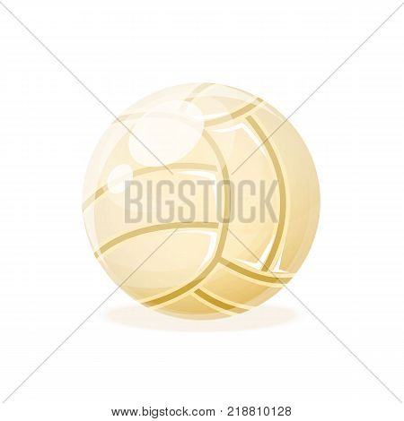 Beautiful realistic classic, volleyball ball, for playing. Competitive games, physical education, hobbies, athletics, a healthy lifestyle, a collective game. Vector illustration isolated