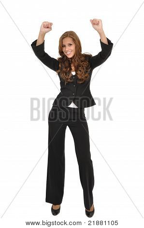 Young Woman In Suit Rips Up Their Arms