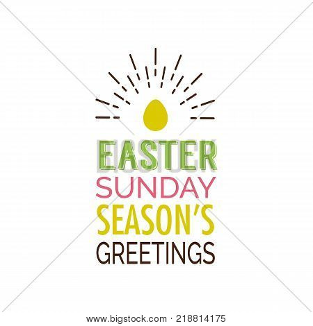 Easter sunday seasons vector photo free trial bigstock easter sunday seasons greetings lettering and shining egg easter greeting card typed text m4hsunfo