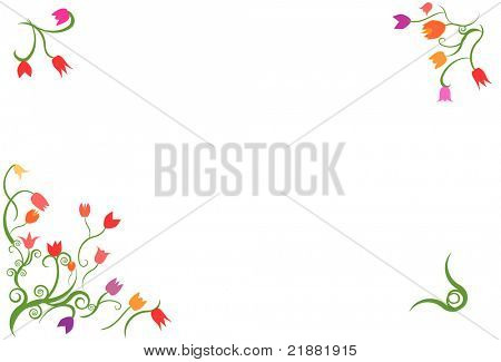 Tulips vector frame