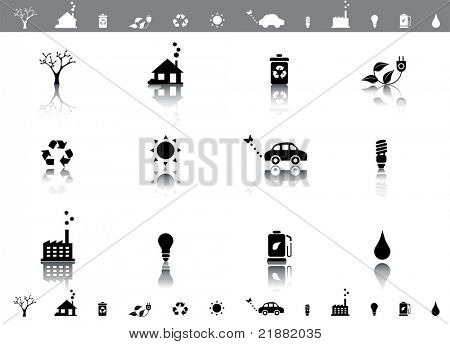 Ecological vector icon set