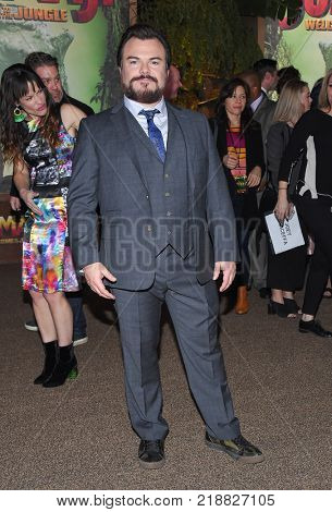 LOS ANGELES - DEC 11:  Jack Black arrives for the 'Jumanji: Welcome To The Jungle' Los Angeles Premiere on December 11, 2017 in Hollywood, CA