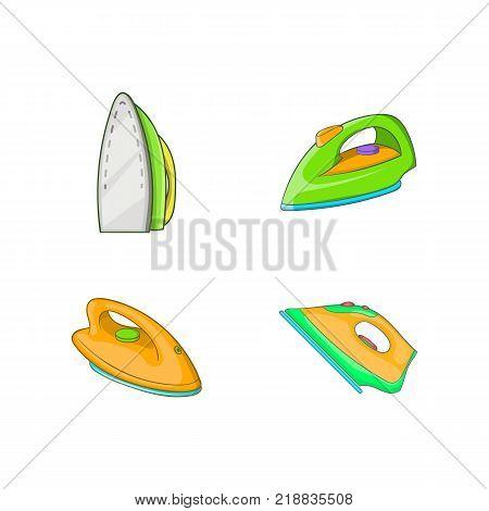 Iron icon set. Cartoon set of iron vector icons for web design isolated on white background