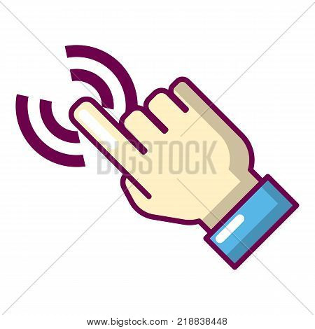 Cursor hand icon. Cartoon illustration of cursor hand vector icon for web
