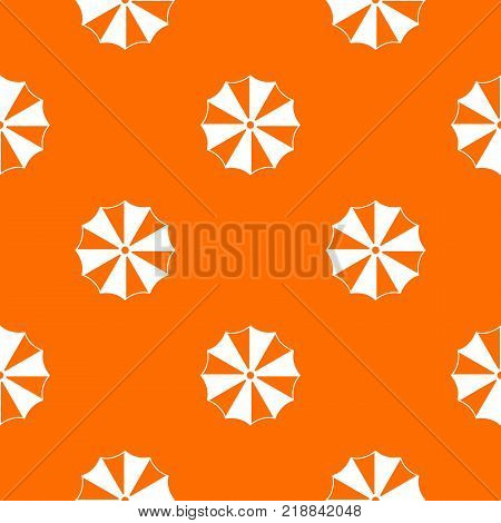Striped umbrella pattern repeat seamless in orange color for any design. Vector geometric illustration