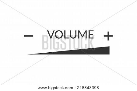 Volume loudness rising line simple icon illustration