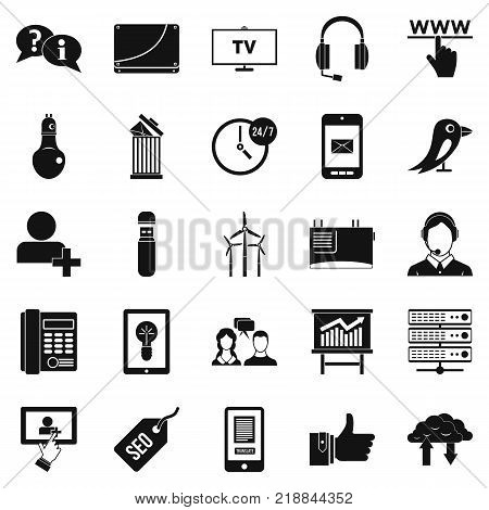 Negotiation icons set. Simple set of 25 negotiation vector icons for web isolated on white background