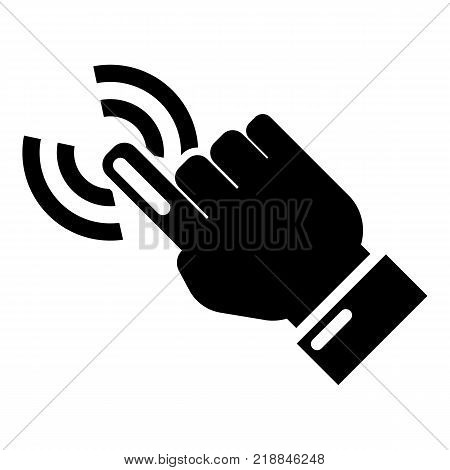 Cursor hand icon. Simple illustration of cursor hand vector icon for web