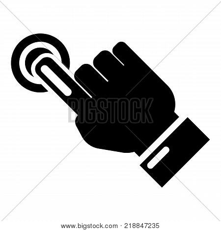Cursor hand click icon. Simple illustration of cursor hand click vector icon for web