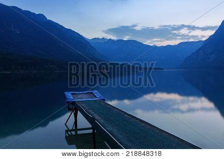Bohinj lake the Julian Alps in Slovenia